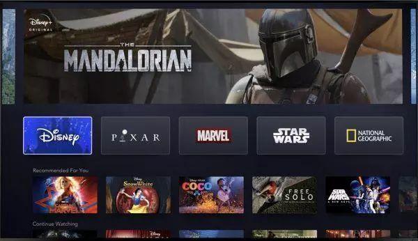 Disney +的页面