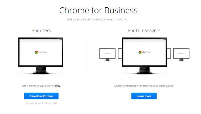 chrome for business
