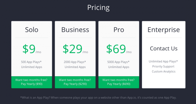 app.io pricing