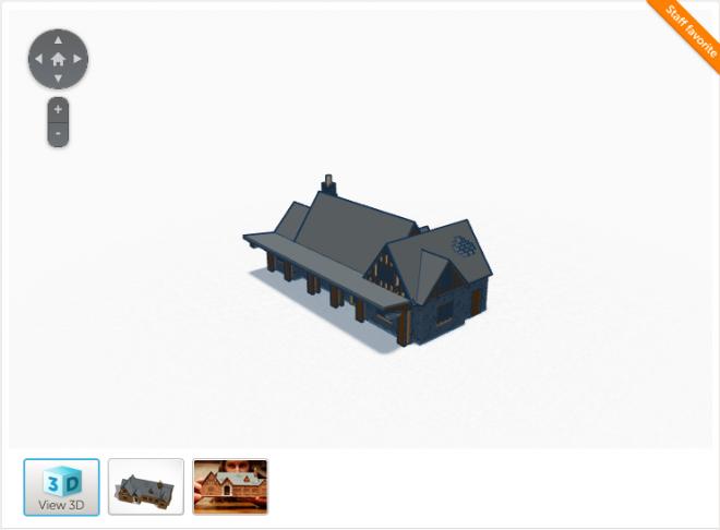 TinkerCAD同时是一个开放分享3D建模完毕后的文件的社区,目前最受好评的是这款模拟纽约地铁哈林区地铁站的模型。