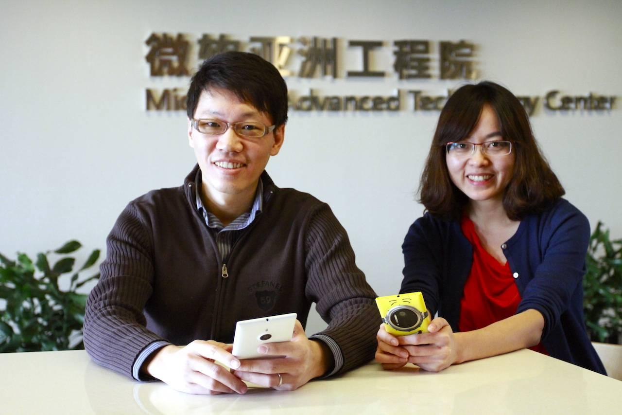 小鱼天气的两名联合创始人:许建志(左)和廖 xx(右)