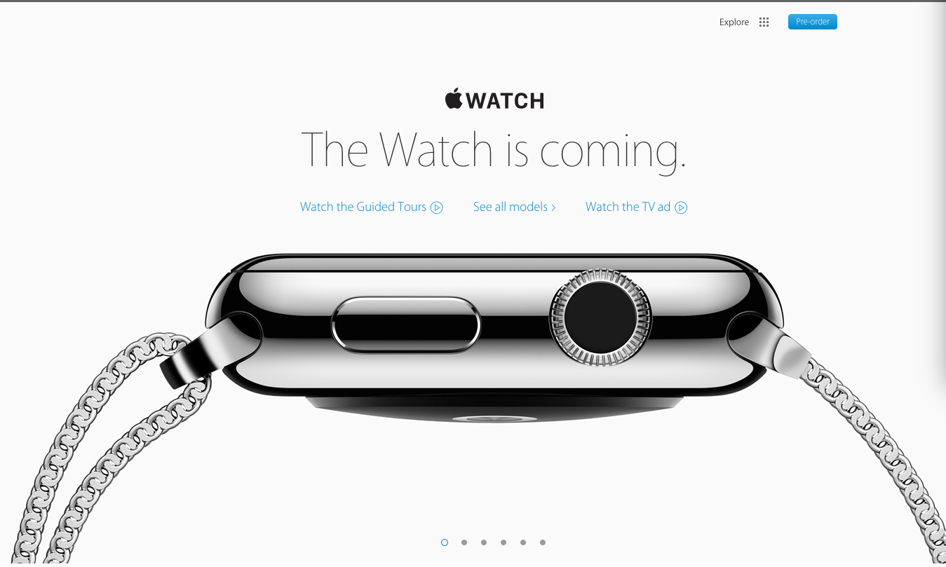 apple watch coming