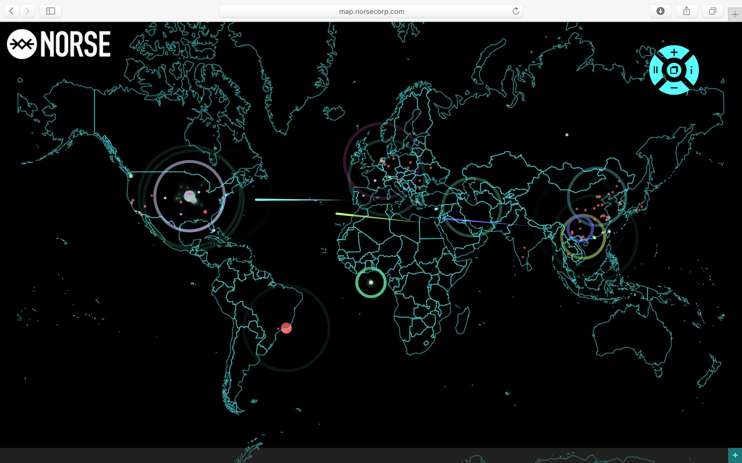 一张全球暗网黑客战的活地图