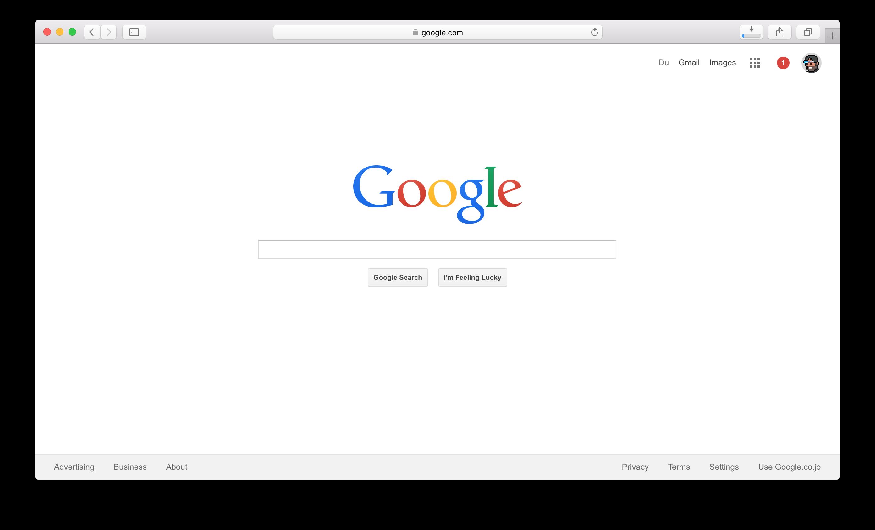 2015年的Google首页
