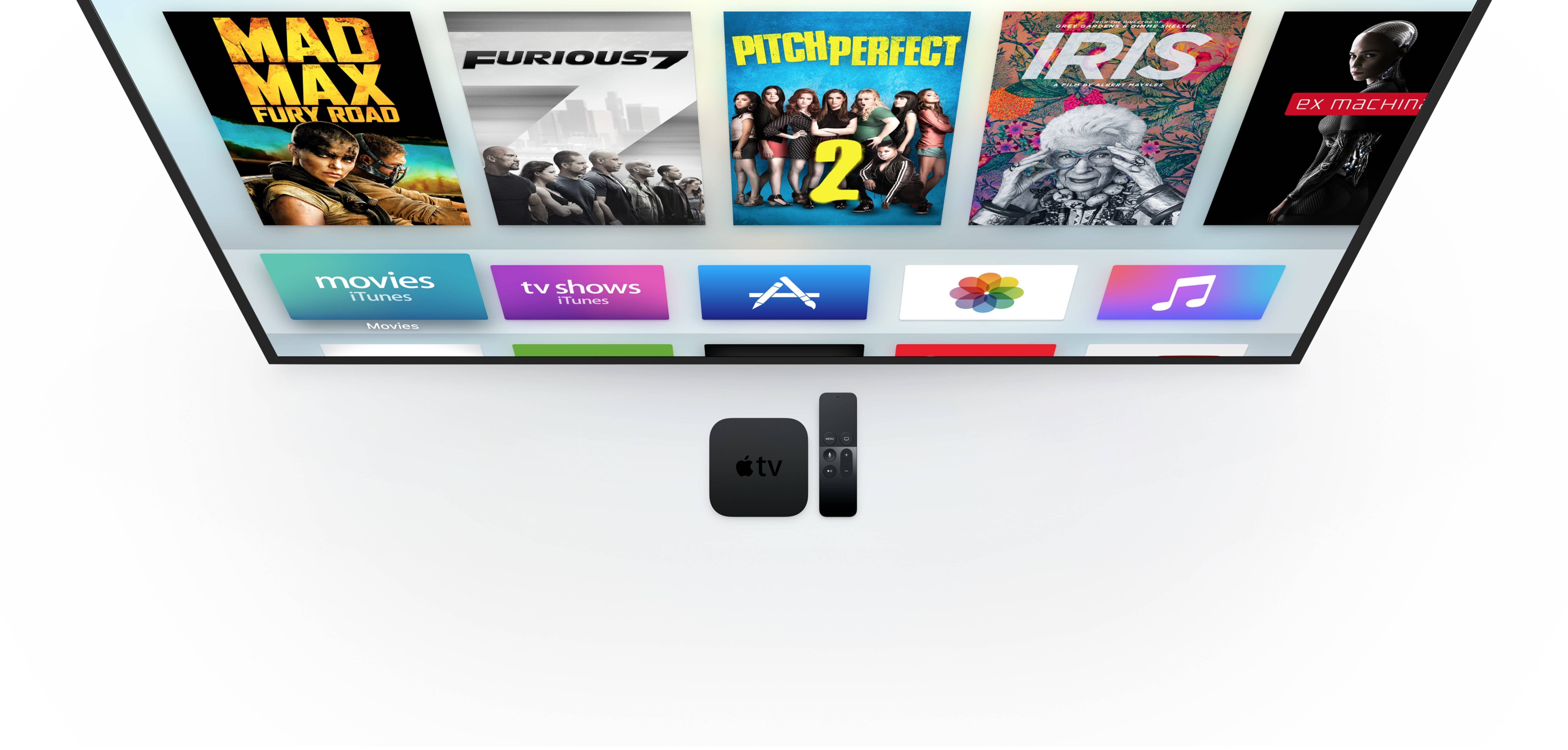 运行在 tvOS 上的 Apple TV,不需要 web 内容。