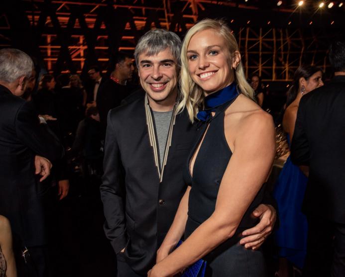 谷歌联合创始人拉里·佩奇和妻子卢辛达·萨吾斯沃斯