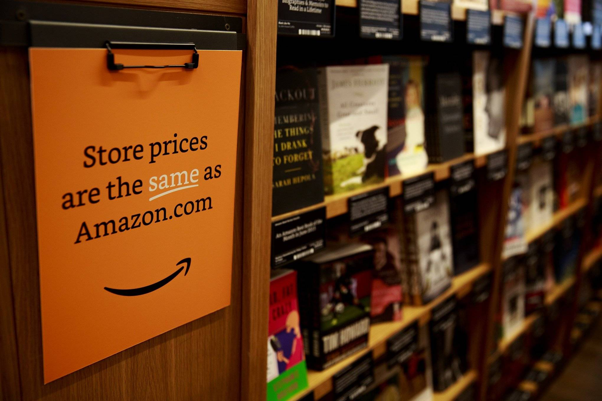 Amazon Books, the company's first brick-and-mortar store, will open tomorrow Tuesday, Nov. 3, 2015 in Seattle's University District.