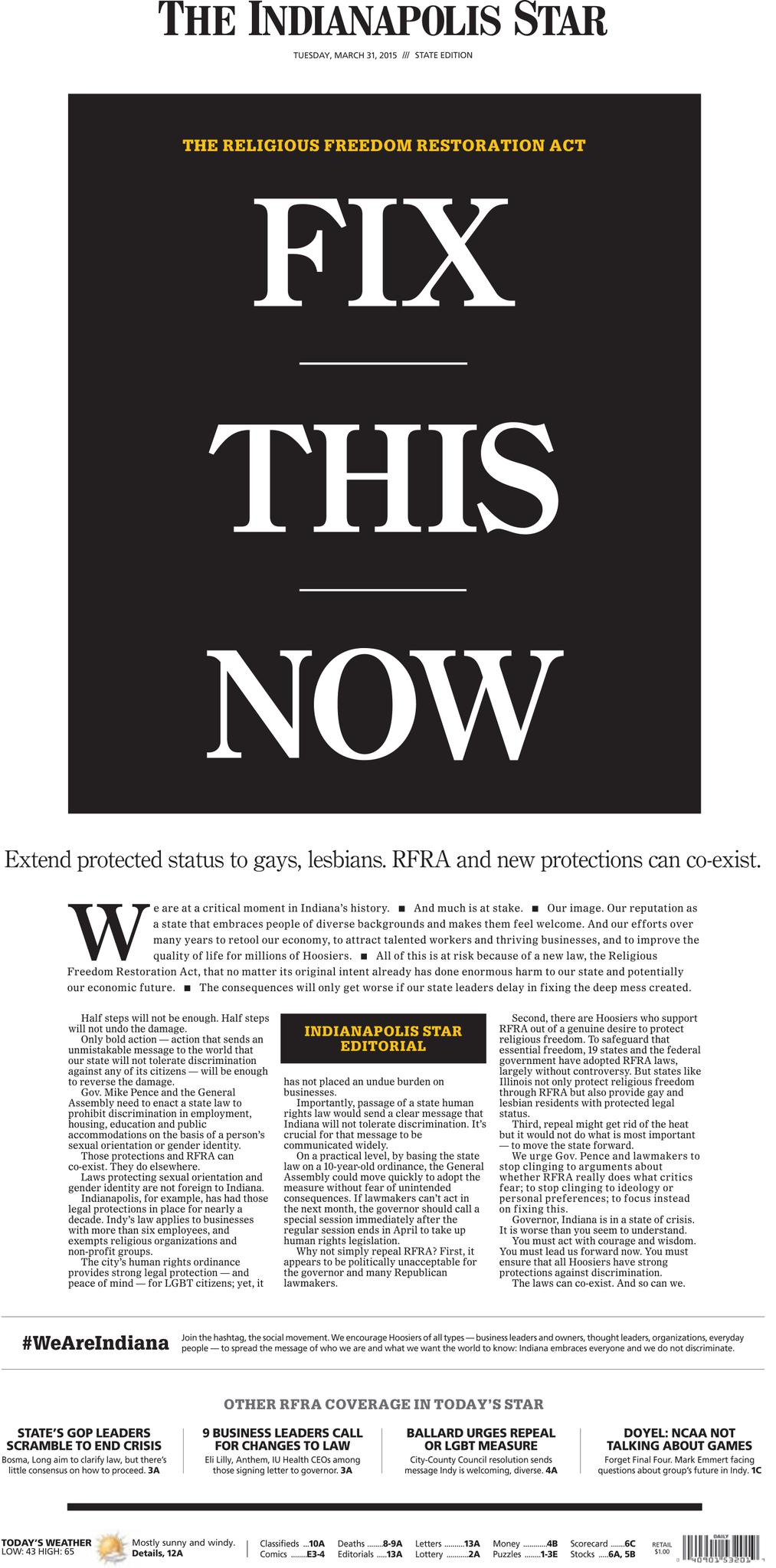 Indianapolis_Star_RFRA_cover