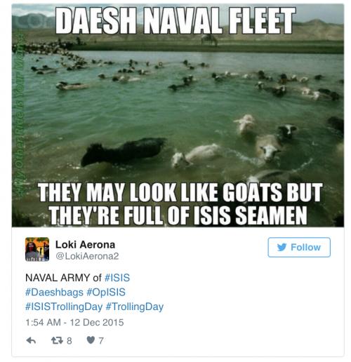 达伊什海军:它们可能看起来像羊,却装满了 ISIS 的海员(同音梗:Seamen = Semen = 精液……)