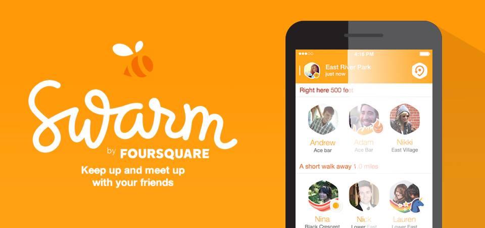 Foursquare 专门为签到功能做的独立应用 Swarm (图片来自 Majestyk)
