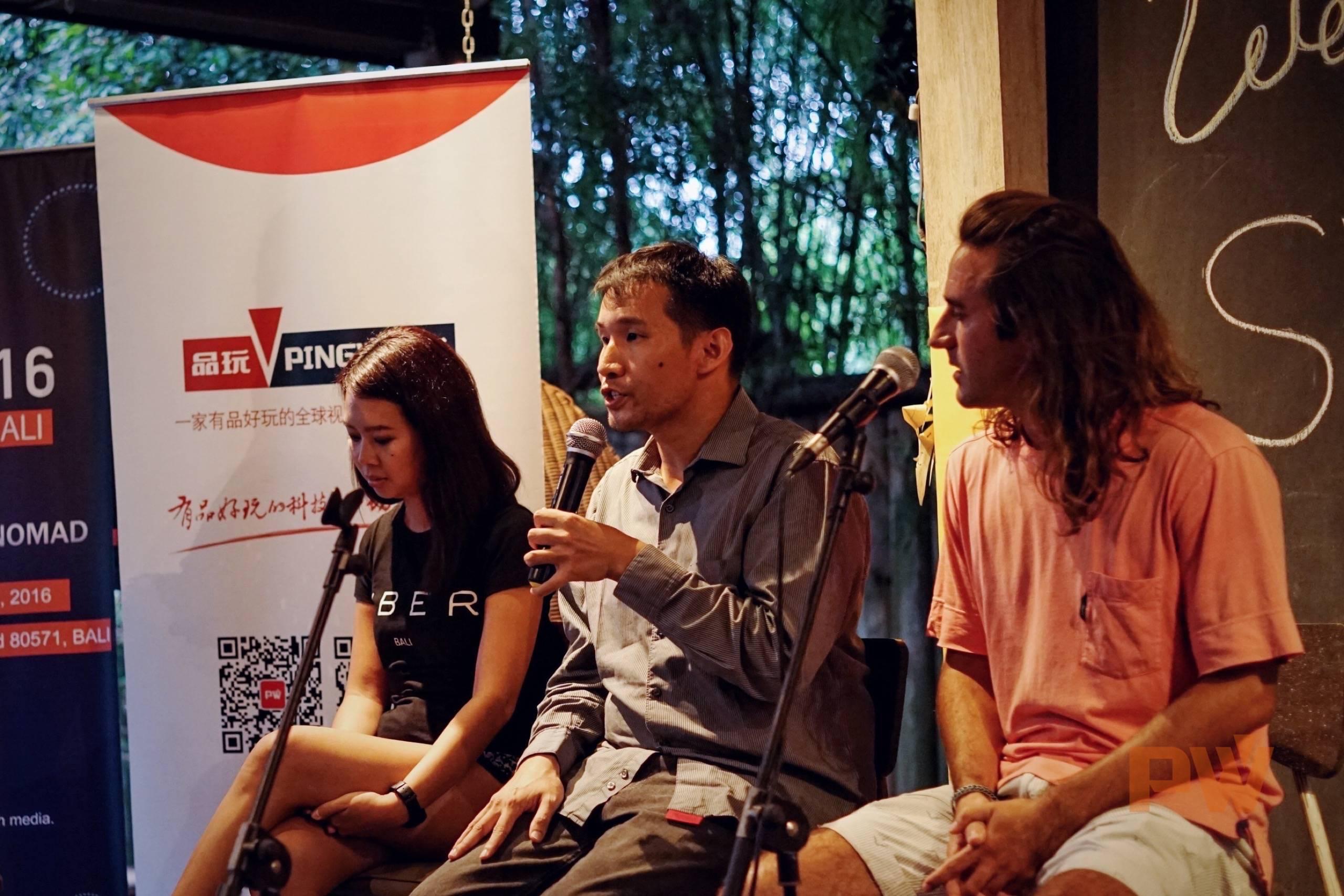 Anggun、Alan Yu 博士和 Georgi 分享他们在巴厘岛工作和生活的经验 / Photo by 光谱