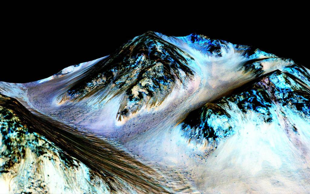 water on present-day Mars.