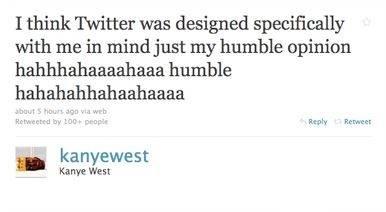 侃爷认为 Twitter 非常适合用来低调地展现自己的才华