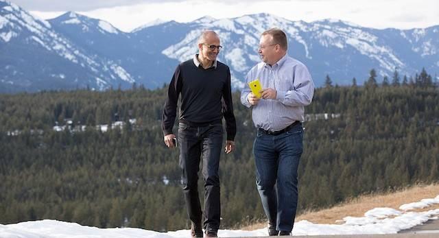 微软 CEO 纳德拉和埃洛普:前一秒情同手足,后一秒把你开除