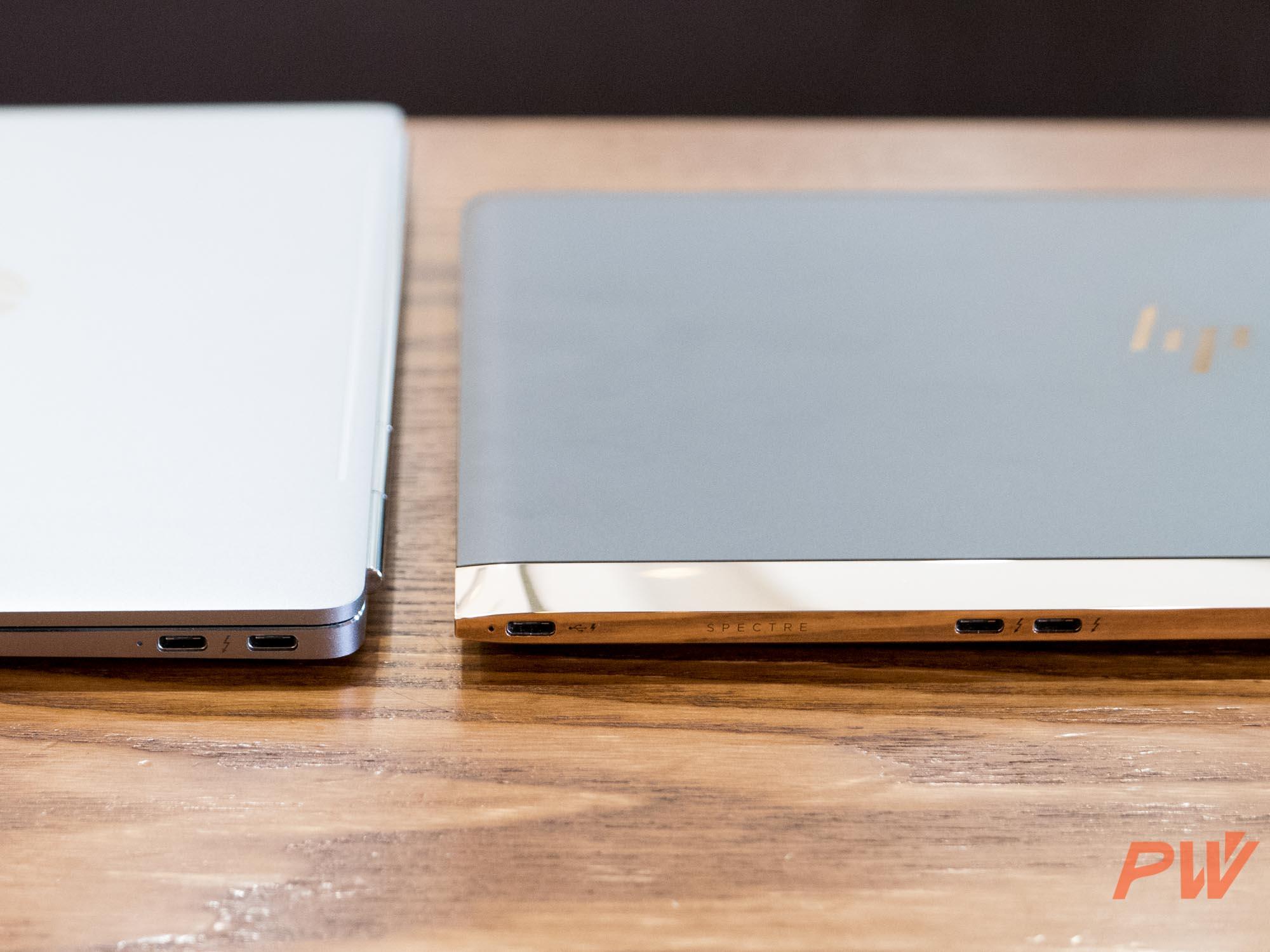 Folio G1 和 Spectre 13 2016 分别配备两个和三个 USB-C 接口,每个均可以插入电源给机身供电。