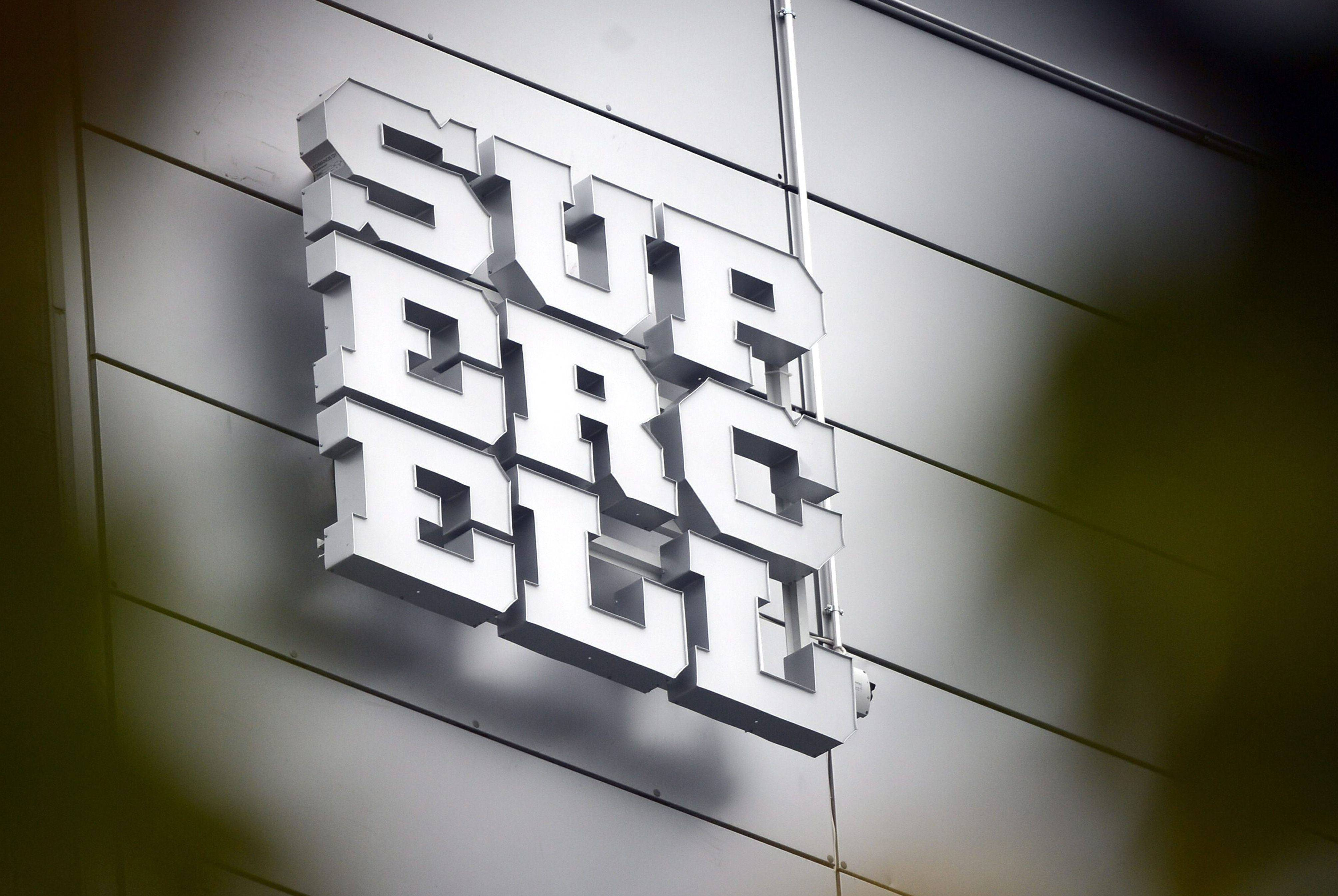 The logo of Finnish computer game maker Supercell is pictured at the companys head office in Helsinki on October 15, 2013. Finnish computer game maker Supercell has sold control of the company for 1.1-billion-euro ($1.5 billion) to two Japanese investors, SoftBank and GungHo, the Helsinki-based company announced on its website on October 15, 2013. AFP PHOTO /Lehtikuva/ KIMMO MANTYLA FINLAND OUT