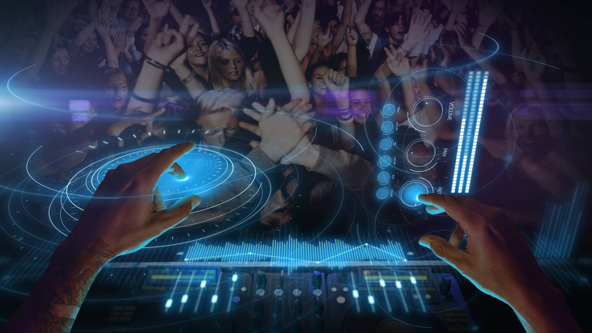 DJ在带节奏