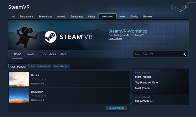 Steam为HTC Vive推出的操作系统SteamVR