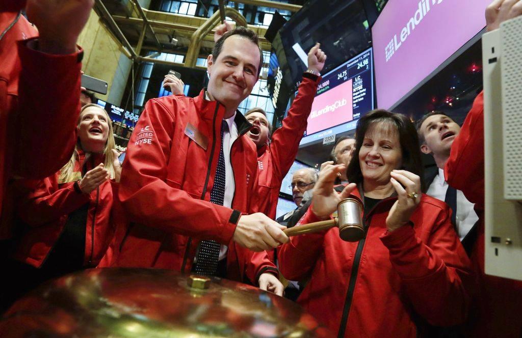 网贷平台 Lending Club 在纽交所敲钟。