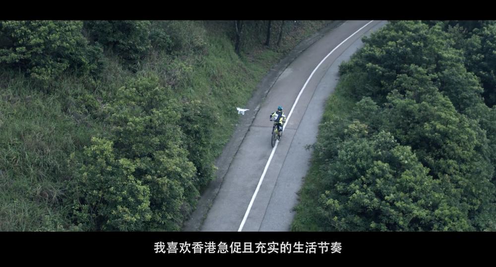 大疆为香港旗舰店拍摄的宣传片中的场景