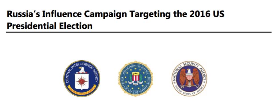 CIA、FBI、NSA等三家美国情报机构提交的报告