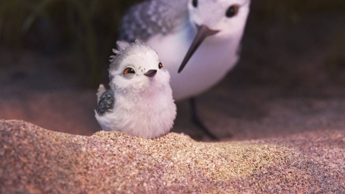 """PIPER"" — In Pixar Animation Studios' new short, ""Piper,"" a hungry sandpiper hatchling discovers that finding food without mom's help isn't so easy. Directed by Alan Barillaro (supervising animator ""WALL•E,"" ""Brave""), the short debuts in theaters on June 17, 2016, in front of ""Finding Dory."" ©2016 Disney•Pixar. All Rights Reserved."