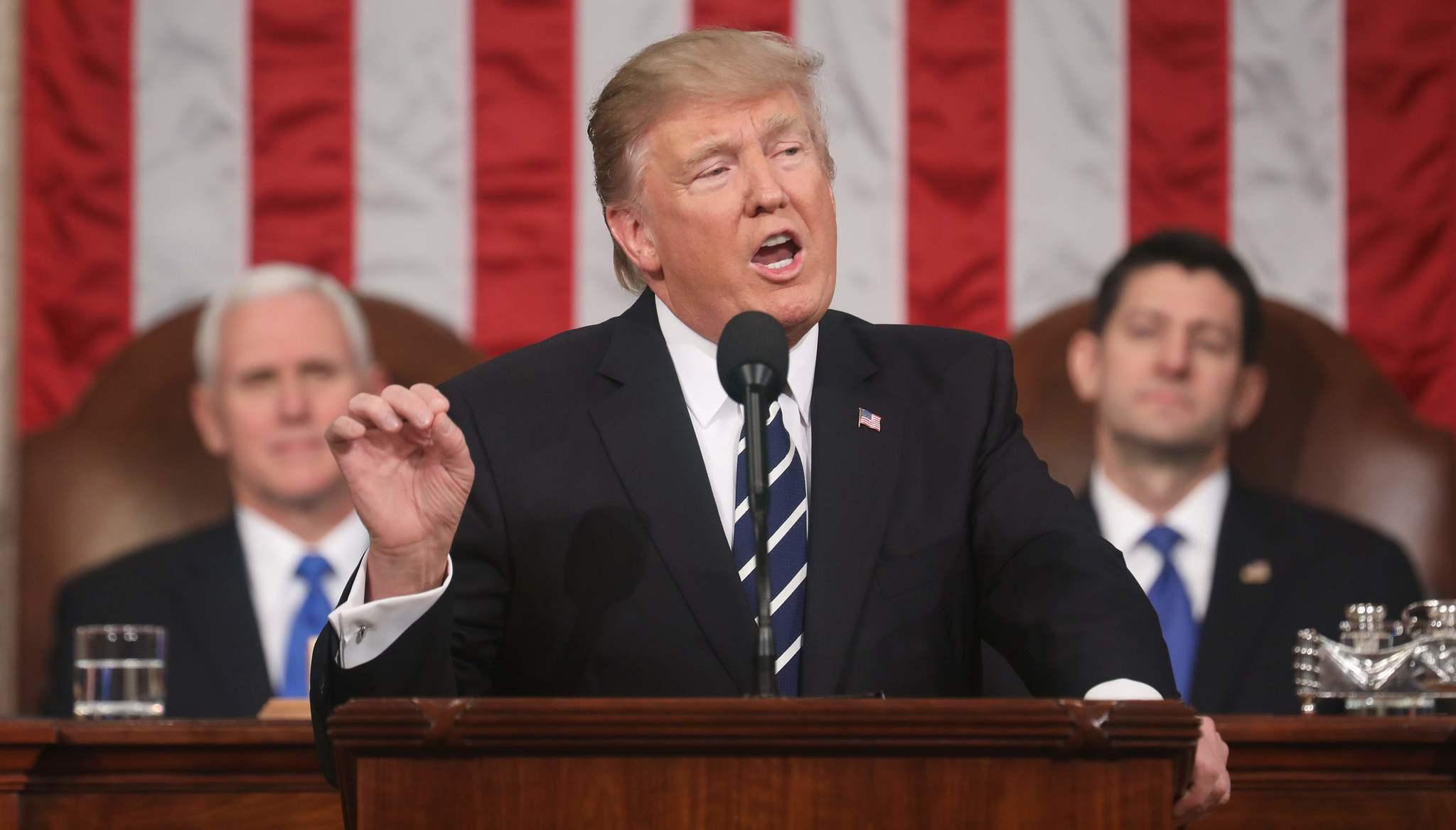 特朗普在国会演讲