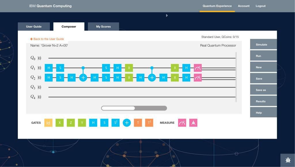 IBM Quantum Experience界面