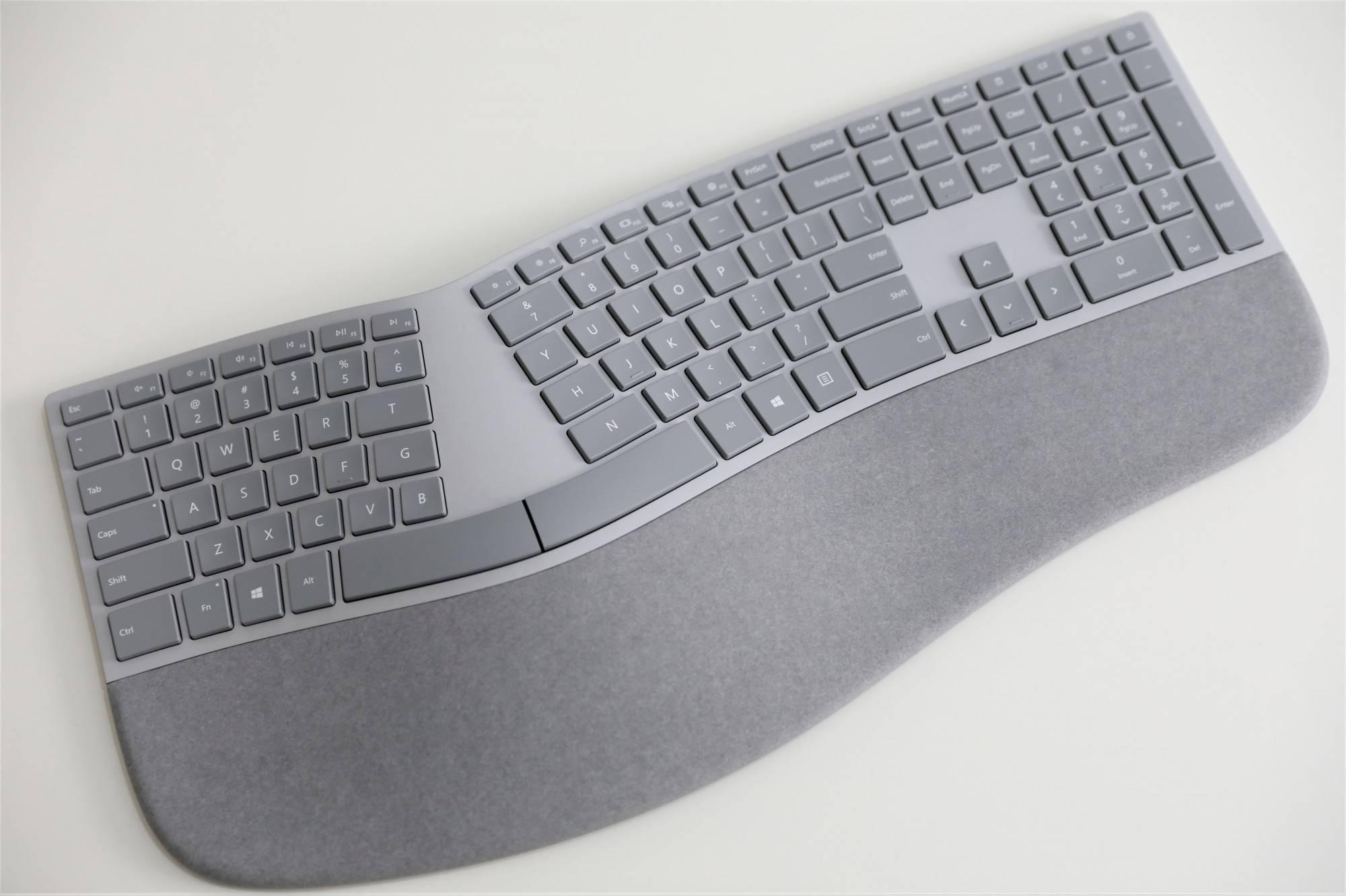 2017款微软全新的人体工学键盘