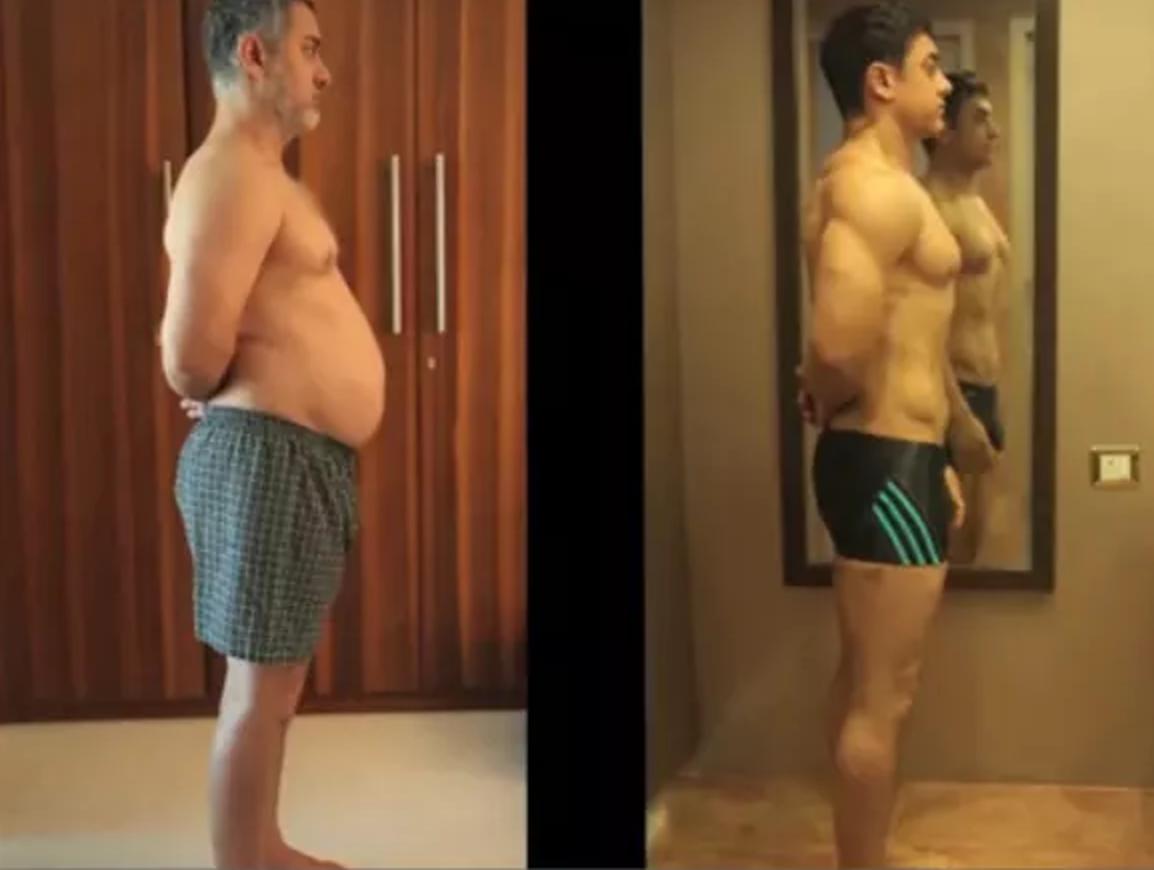 米叔为这部电影增肥减肥对比
