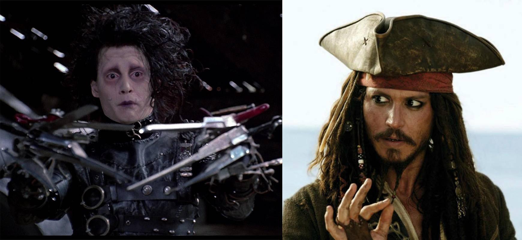 德普出演的剪刀手爱德华和杰克船长