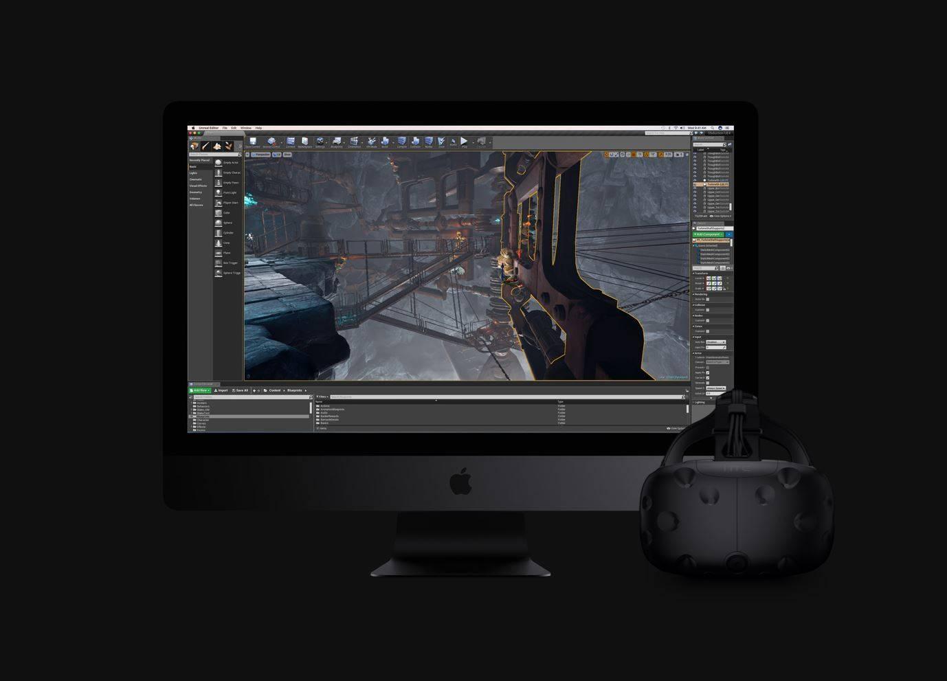iMac Pro HTC vive VR PingWest Hao Ying 2
