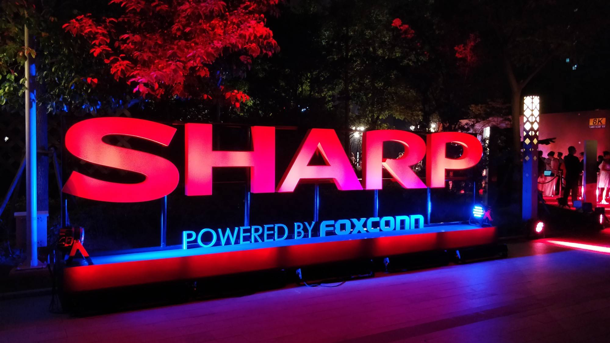 sharp powered by foxconn