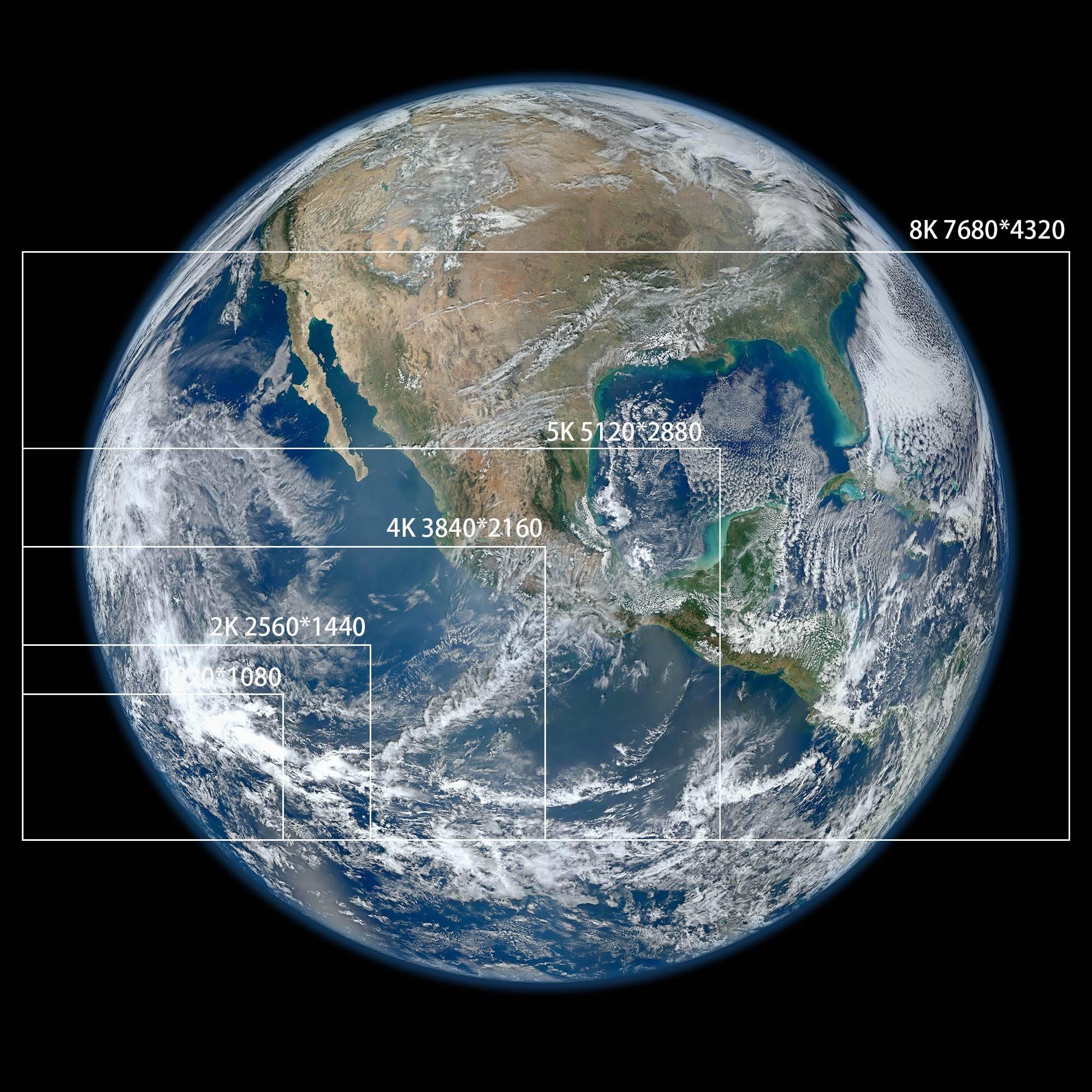 Planet Earth NASA PingWest Hao Ying 8K 4K 2K 2000