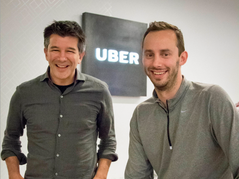 Uber 开创人卡拉尼克和勒万多斯基