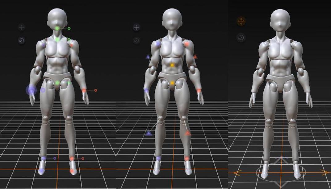 参考maya的人偶操控体系
