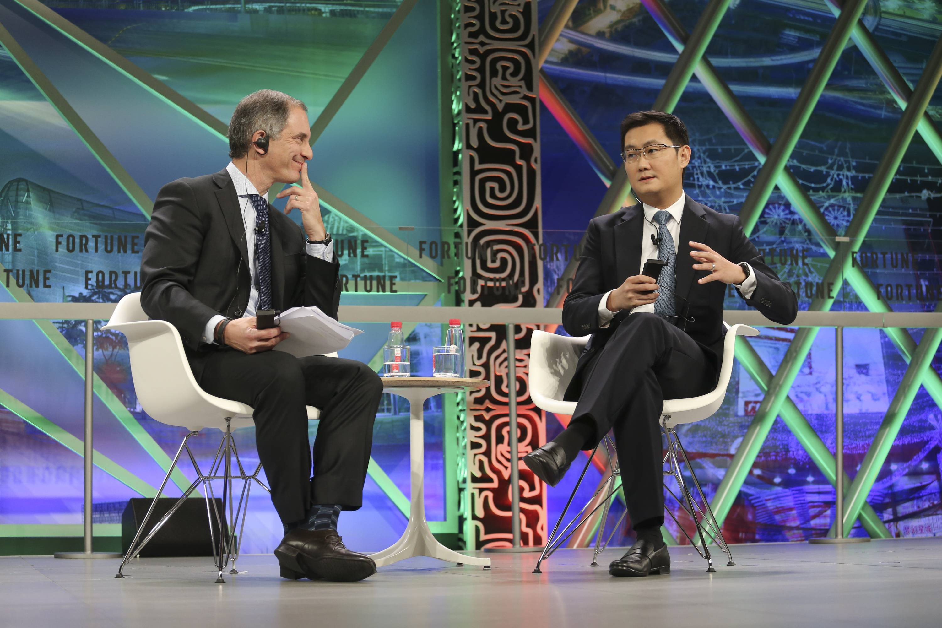 004 Wednesday, December 6th, 2017 Fortune Global Forum 2017 Guangzhou, China 3:05PM - 3:35PM INNOVATION AND ECOSYSTEM The founder, chairman and CEO of one of the world's largest Internet enterprises discusses how the mobile Internet brings innovative products to users in China, enhancing people's lives and transforming businesses in an expanding offline-to-online ecosystem. Pony Ma, Co-founder, Chairman, and CEO, Tencent Interviewer: Adam Lashinsky, Executive Editor, Fortune and Co-Chair, Fortune Global Forum Photograph by Vivek Prakash/Fortune