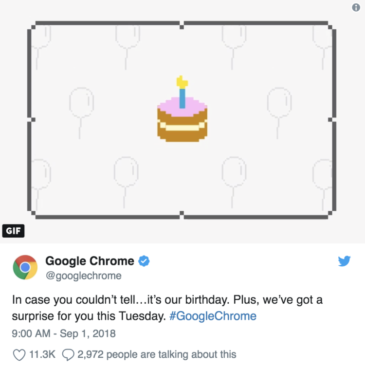 """""""提醒一下大家,今天是我的生日哦""""——Google Chrome"""