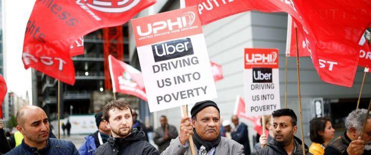 抗议Uber 图:ABC News