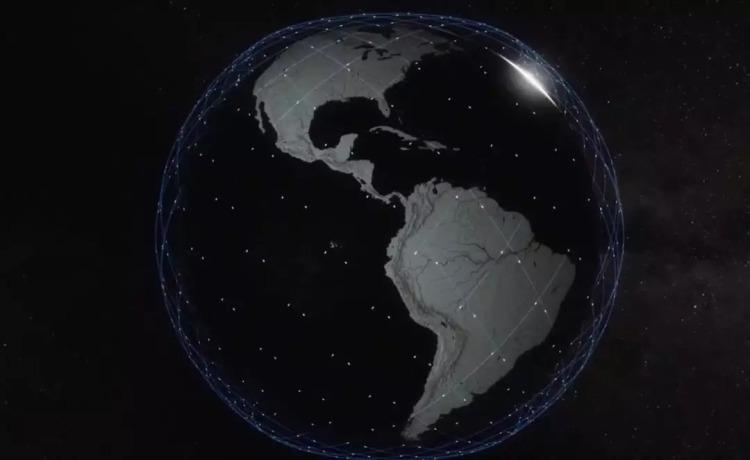 星链的全球卫星网络 图:SpaceX