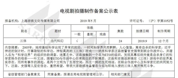 国家广播电影电视总局5月电视剧备案公示截图