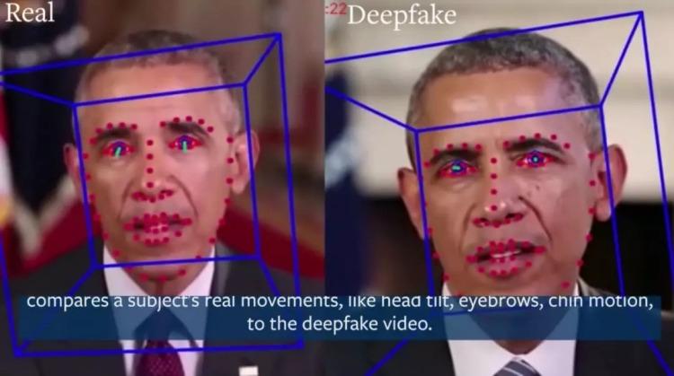 UC Berkeley研究者比较真假人物的面部差异图UC Berkeley