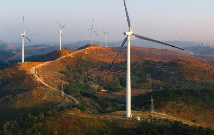 Apple 在中国大陆投资的一座风力发电场