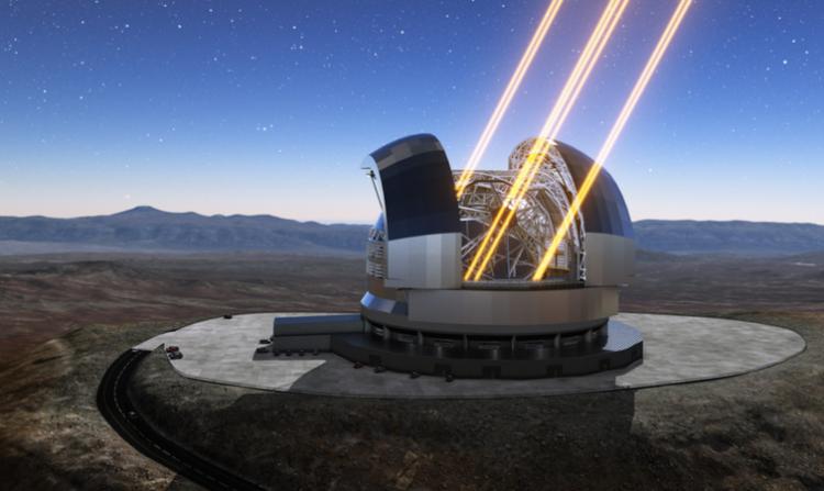 全球最大的光学天文望远镜欧洲极大望远镜(E-ELT)概念图(图源ESO)