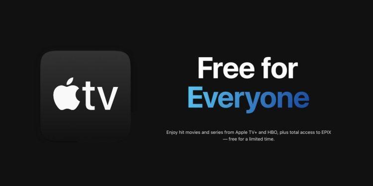 苹果曾在疫情期间免费开放了 Apple TV+