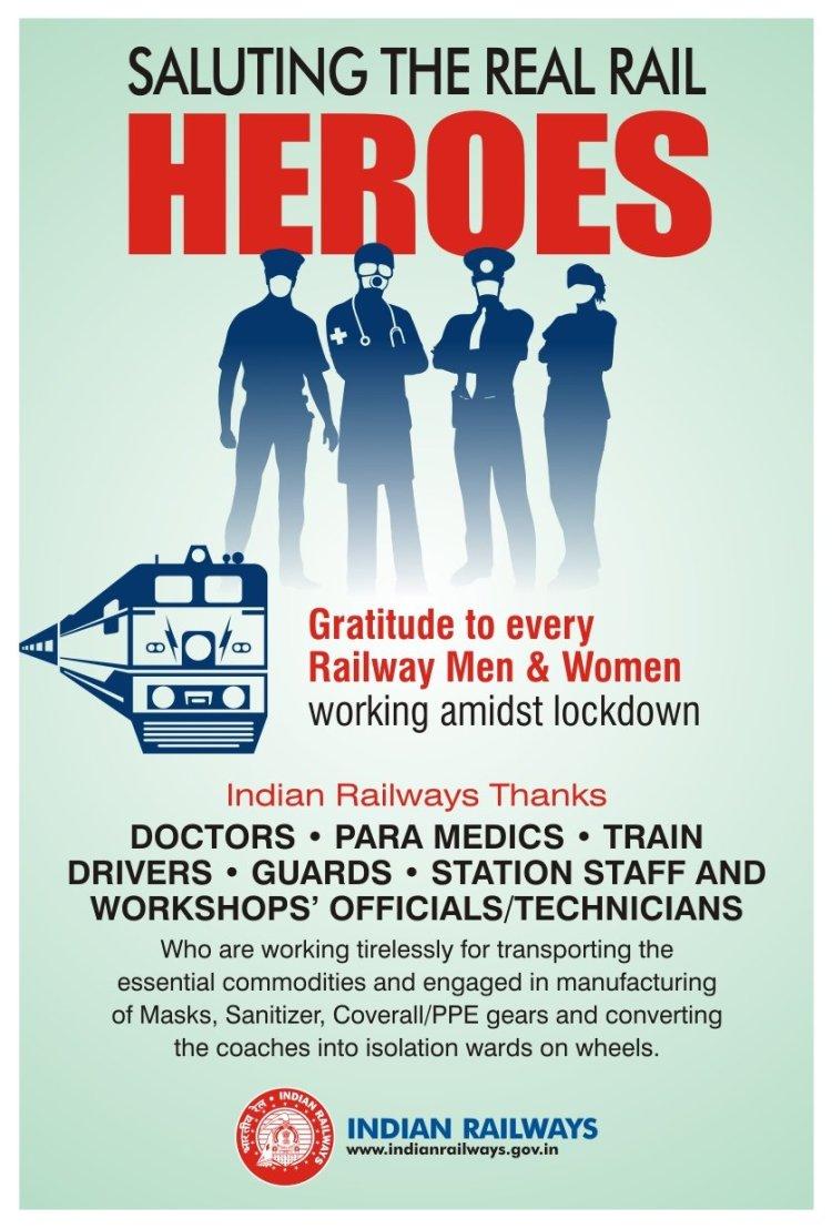 印度铁路twitter发布的感谢海报