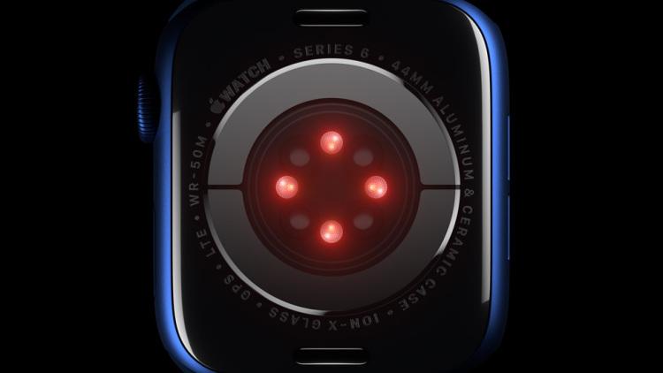 新增的血氧测量传感器