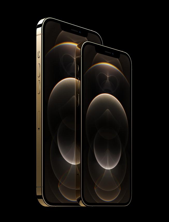 iPhone 12 Pro/iPhone 12 Pro Max 金色版本边框极具质感