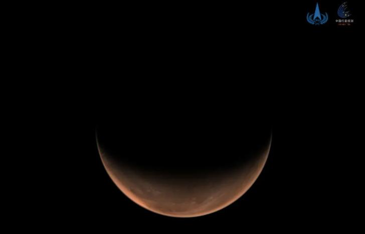 """2021年3月16日,""""天问一号""""拍摄的火星南半球影像"""