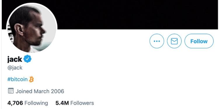 图片截自于Jack Dorsey的2021年6月9日个人Twitter主页